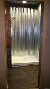 metal shower stall inexpensive shower stall ideas improbable corrugated metal diy metal shower stall