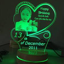 Quà tặng sinh nhật ý nghĩa - Đèn led khắc ảnh