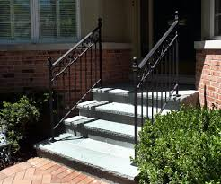 outdoor wrought iron railing parts. this beautiful custom wrought iron railing set makes these new bluestone steps safe to use. the was part of a front walk and stoop remodeling outdoor parts t