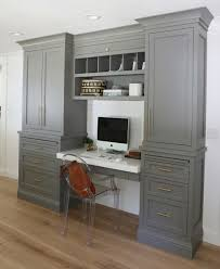 Kitchen Office Cabinets Before And After Robin Road Kitchen Remodel Gray Desk Gray