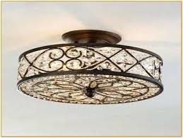 flush mount crystal chandelier antonia 4 light semi yessica rhinestone silver shade home depot