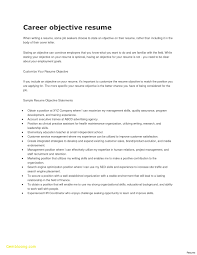 It Resume Objectives Samples Resume Objectives Template New Examples Resume Career Objectives 34