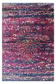 fuschia blush sari silk area rug