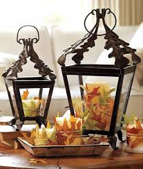 fall lanterns for outdoor and indoor decor cover several candles with fallen leaves in diffe colors you can attach them by simply