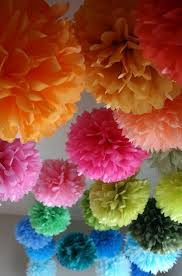 Tissue Balls Party Decorations How to make tissue pom paper flowers Flowers Tissue paper and 46