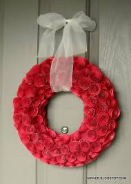Diy Paper Flower Wreath Diy Paper Rose Wreath Tutorial Catch My Party
