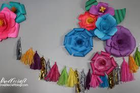 Tissue Paper Flower Wall Art Doodlecraft Diy Paper Flower Wall Backdrop