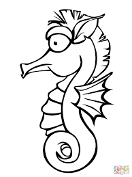 Cute Seahorse Coloring Page Free Printable Coloring Pages
