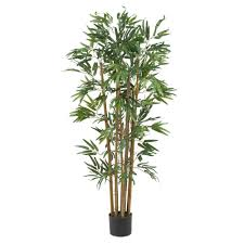 Decorative Indoor Trees Nearly Natural 4 Ft Multi Bambusa Bamboo Silk Tree 5280 The