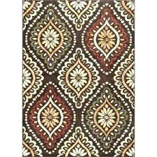 burnt orange area rug brown 8 x medallion rugs the home and green round teal