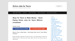 Best Paying Jobs For Teens Access Jobsforteenager Com Best Online Jobs For Teens Earn