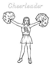 Cheerleader Coloring Pages Free Printable Cheerleader Coloring Pages