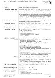 Sample Resume Of Staff Nurse With Job Description Best Nurse Manager