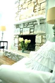 can you paint a rock fireplace decoration rock fireplace makeover how painted stone white spray paint can you paint a rock fireplace