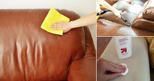 how to clean faux leather couch with