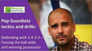 Pep Guardiola tactics & drills: Defending with 1-4-3-3 - Forcing the ball  wide & winning possession - YouTube
