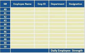 Attendance Tracker Spreadsheet Excel Spreadsheet Attendance Tracking Employee Tracker For