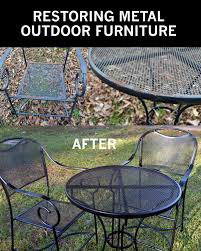re metal outdoor furniture to like new patio sets a few years ago i bought