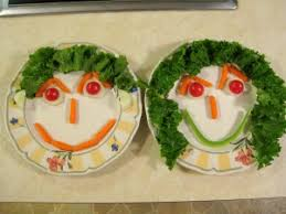 Image result for images of vegetables with faces