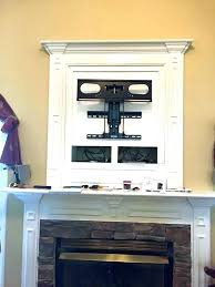 mounted over fireplace ideas how to hide wires for wall mount brick hanging tv mounte mounting over gas fireplace