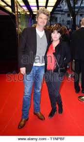 Simon Farnaby and Claire Keenan arriving for the pre-premiere ...