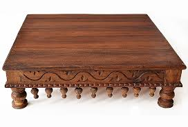 indian carved dining table. indian table carved low wooden dining