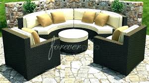 alluring curved outdoor sofas wicker sofa patio furniture cushions