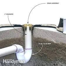 leaking shower drain shower drain leak how to install a fiberglass base over concrete plumb the leaking shower drain replace