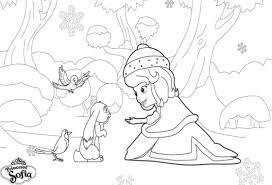 Coloriage A Imprimer Princesse Sofia Dans La Neige Gratuit Et Colorier