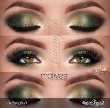 makeup beautiful with hazel green eyes