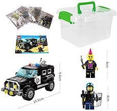 GGIENRUI <b>SWAT Police</b> Car Toy Building Blocks <b>185pcs</b> Assembly ...