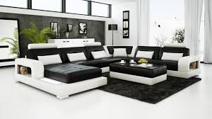 modern black leather couches. Contemporary Black And White Leather Sofa Set Sleeper Modern Black Leather Couches