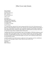 Police Officer Cover Letter Sample Guamreview Com