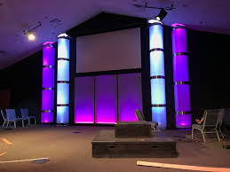 church lighting ideas. we got columns from open door church in edenton nc stage design ideas lighting e