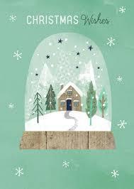 Snow Globe Design Modern Christmas Snow Globe Christmas Illustration