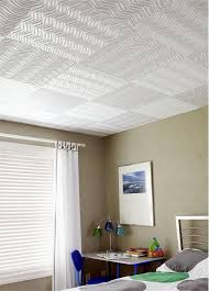 Contemporary Ceiling Tile from ACP, Model: Wave pattern in white