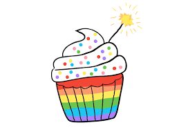 animated birthday cupcakes.  Cupcakes Rainbow Cupcake By Marie McGwier  Dribbble On Animated Birthday Cupcakes