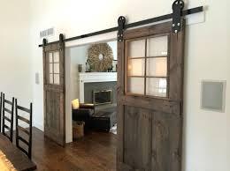 barn door with glass panels unusual sliding barn door ideas comes with natural dark brown wooden