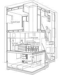 architectural house drawing. House In Futako-Shinchi By Tato Architects Architectural Drawing S