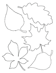 Leaf Stencils Printable Outline Template Ideas Only On Free Coloring
