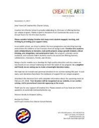 Solicitation Letter Cacs 2018 Solicitation Letter Creative Arts Charter School