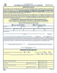 Passport Renewal Application Form Stunning DS48 Application For Non Receipt Of Passport US Passport Support