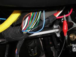 bulldog security diagrams this is a picture of the steering column harness wires the parking light blue orange wire seperated from the rest of the wires in this harness