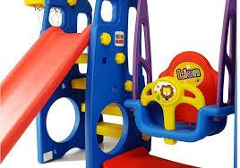 garden set slide swing lion toys