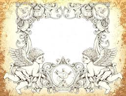 angel picture frame ornament vector with angels royalty free stock image pm