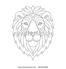 Small Picture Lion Head Page Adult Coloring Book Stock Vector 620438519