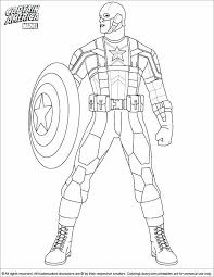Captain America Winter Soldier Coloring Pages Home New 28 Collection