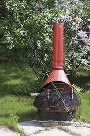 metal outdoor chiminea fireplace