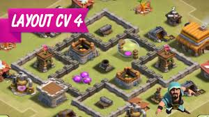 Layout Cv 4 Farm Clash Of Clans Layout Th4 Farm Youtube
