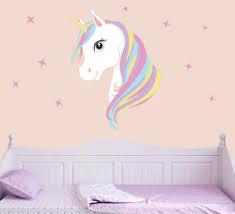 image is loading colourful unicorn amp stars wall art vinyl stickers  on wall art bedroom stickers with colourful unicorn stars wall art vinyl stickers girls bedroom